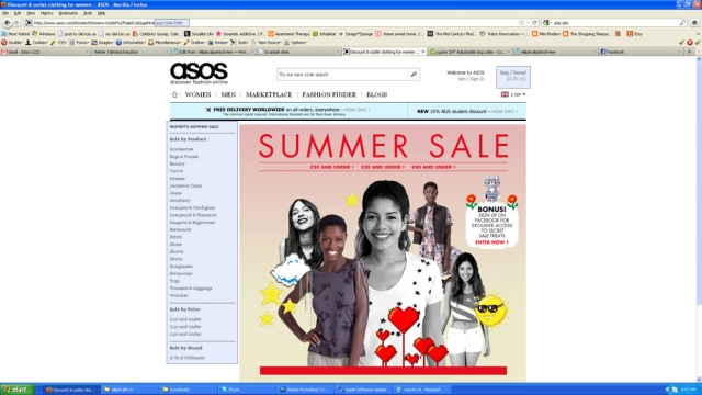 asos screen shot showing it is an aspx page