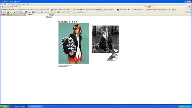 Balenciaga - intro screen