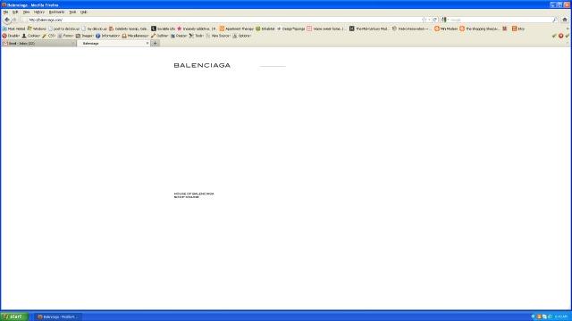 Balenciaga loading screen