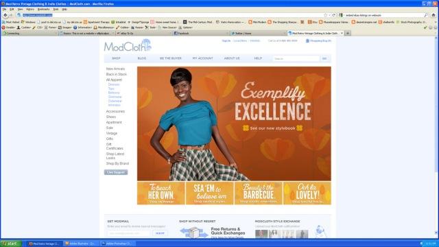 Screenshot of modcloth.com