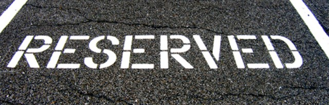 Reserved car parking space
