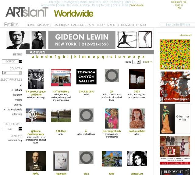 Artist-Profiles-Artslant-Directory