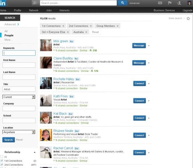 LinkedIn-Title-Artist-Australia