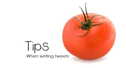Tip: When writing tweets