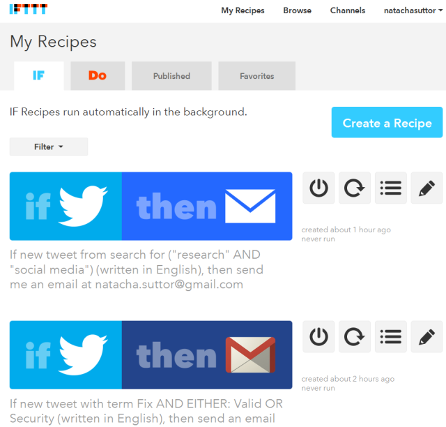Twitter-Researchers-IFTTT